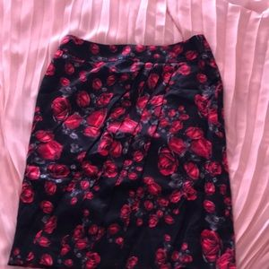 WHBM floral skirt size 0